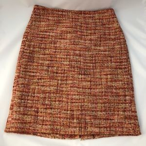 Talbots tweed pencil skirt sz 2p